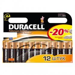 Элементы питания батарейка DURACELL AA/LR6 алкалин. бл/12