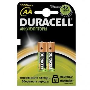 Элементы питания аккумулятор DURACELL 1300 mAh AA/HR6 NiMH бл/2