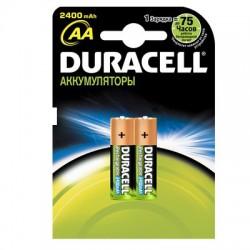 Элементы питания аккумулятор DURACELL 2400 mAh AA/HR6 NiMH бл/2