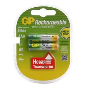Элементы питания Аккумулятор GP 850mAh AAA/LR03 NiMH (2 шт/бл)
