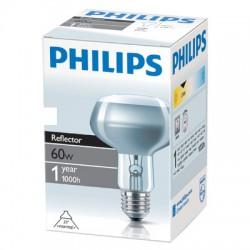 Лампа накаливания Philips, рефлекторная (зеркальная) R80, 60Вт, цоколь E27