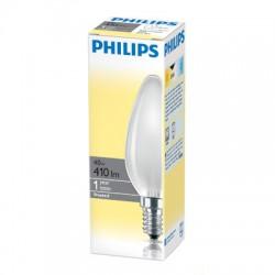 Лампа накаливания Philips, свеча матовая, 40Вт, цоколь E14