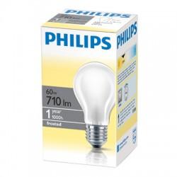 Лампа накаливания Philips, стандартная матовая, 60Вт, цоколь E27