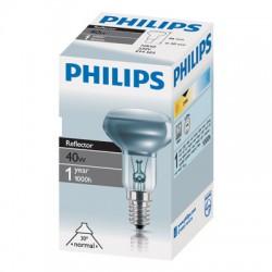 Лампа накаливания Philips, рефлекторная (зеркальная) R50, 40Вт, цоколь E14