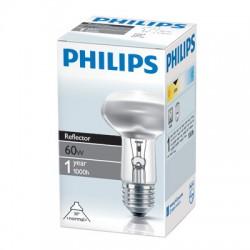 Лампа накаливания Philips, рефлекторная (зеркальная) R63, 60Вт, цоколь E27