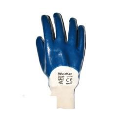 Средство защиты рук Перчатки с неполным нитрил.покрытием, манжета резинка