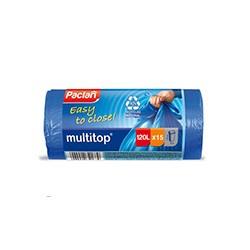 Пакеты для мусора Paclan MULTI-TOP 120л 15шт 25 мкм с завязками