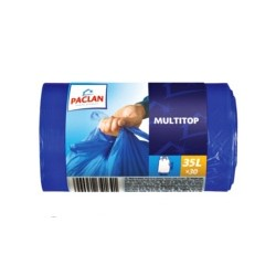 Пакеты для мусора Paclan MULTI-TOP (35л 30шт с завязками 15мкм ВД)