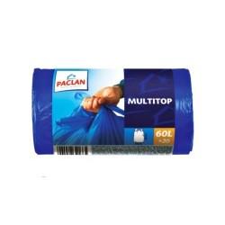 Пакеты для мусора Paclan MULTI-TOP (60л 20шт с завязками 20мкм ВД)