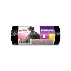 Пакеты для мусора Paclan STANDART (60л 20шт 7,4 мкм НД)