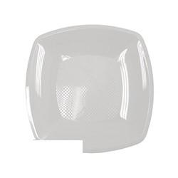 Тарелка одноразовая квадратная плоская белая (23см, ПП, 6шт/уп)