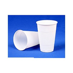 Стакан одноразовый белый, для горячих и холодных напитков (0,20л, 25шт./уп., 65уп./кор.)