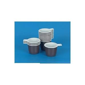 Чашка одноразовая для хол./гор. напитков, бело-коричневая (0.20л, 50шт./уп.)