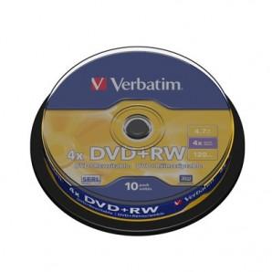 Носители информации Verbatim DVD+RW43488