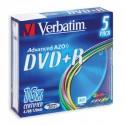 Носители информации Verbatim DVD+R Color43556