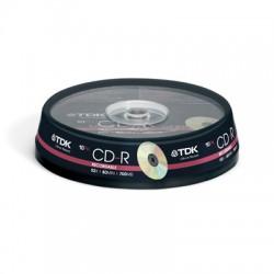 Носители информации TDK CD-R 80 52x CB/10