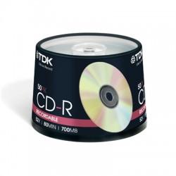 Носители информации TDK CD-R 80 52x CB/50