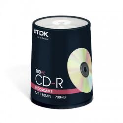 Носители информации TDK CD-R 80 52x CB/100