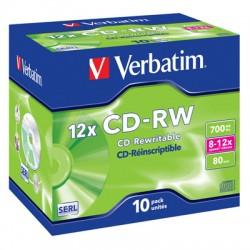 Носители информации Verbatim CD-RW DataLife+43148