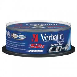 Носители информации Verbatim CD-R 700MB 52x CB/25 Crystal 43352