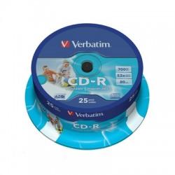 Носители информации Verbatim CD-R 700MB 52x CB/25 Print 43439