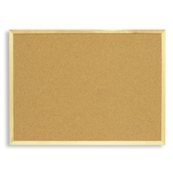 Доска пробковая Attache 100х150 см, деревянная рама  Арт. 87618