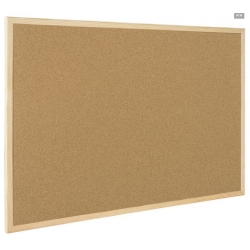 Доска пробковая BI-OFFICE 60х90см, деревянная рама  Арт. 218302