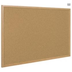 Доска пробковая Bi-Office 100x150 см деревянная рама  Арт. 218304
