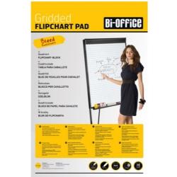Бумага для флипчартов Bi-Office 65х98 см белая 20 листов в клетку (70 г/кв.м) Арт. 218327