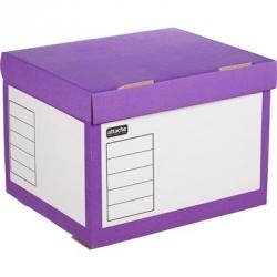 Короб архивный Attache гофрокартон 410x350x300 мм фиолетовый  Арт. 391342