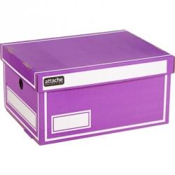 Короб архивный Attache гофрокартон фиолетовый 320x240x160 мм Арт. 391343