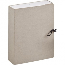 Короб архивный А4 переплетный картон серый (складной, 10 см, 2 х/б завязки)  Арт. 479870