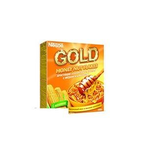 Хлопья кукурузные Nestle Gold с медом и арахисом 300г