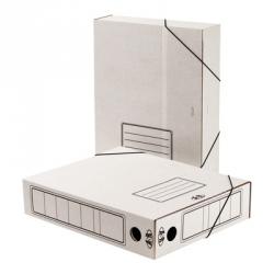 Короб архивный Attache А4 гофрокартон белый (складной, 75 мм, 2 резинки) Арт. 131302