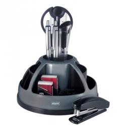 Настольный набор Attache черный/серый 10 предметов вращающийся Арт. 327426