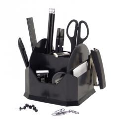 Настольный набор Attache черный 15 предметов вращающийся Арт. 168560