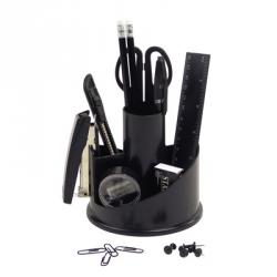 Настольный набор Attache черный 14 предметов вращающийся Арт. 168561