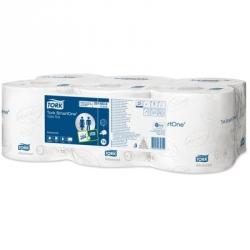 Туалетная бумага в рулонах Tork SmartOne T8 472115/472242 2-слойная 6 рулонов по 207 метров