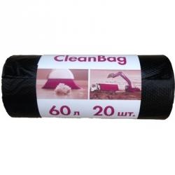 Мешки для мусора на 60 литров Концепция быта черные (15 мкм, в рулоне 20 штук 58x65 см)