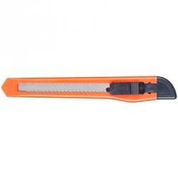 Нож канцелярский с фиксатором (9 мм), оранжевый
