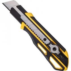 Нож канцелярский технический Attache Selection Supreme с фиксатором и прорезиненным корпусом, ширина 25 мм