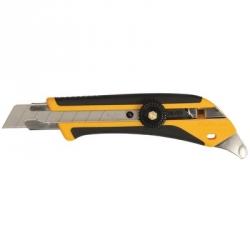 Нож промышленный 18мм OLFA, двухкомпонентный корпус, трещоточный фиксатор
