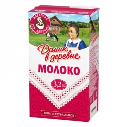 Молоко Домик в деревне для капучино ультрапастеризованное 3,2% 950 г