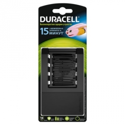 Зарядное устройство Duracell Cef15 для 4-х аккумуляторов АА/ААА (в комплект не входят)