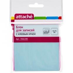 Стикеры Attache 76x76 мм голубые пастельные 100 листов