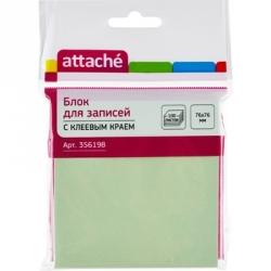 Стикеры Attache 76x76 мм салатовые пастельные 100 листов