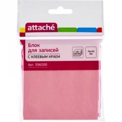 Стикеры Attache 76x76 мм розовые пастельные 100 листов