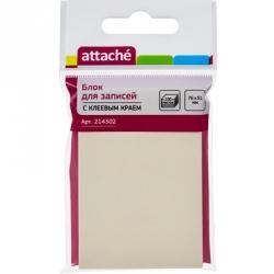 Стикеры Attache 76x51 мм желтые пастельные 100 листов