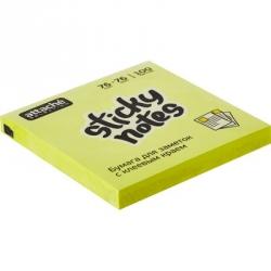 Стикеры клейкие Attache Selection 76x76 мм желтые неоновые 100 листов