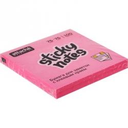 Стикеры клейкие Attache Selection 76x76 мм розовые неоновые 100 листов